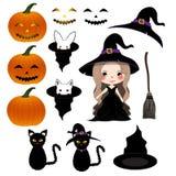 Halloween Day - Decoration Set. Vector Illustration royalty free illustration