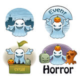 Halloween Day Ghost Characters Stock Images