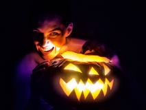 Halloween day. A scary witch. Halloween day Stock Images