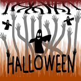 Halloween day vector Royalty Free Stock Photography