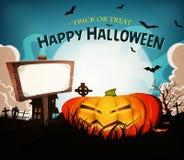 Halloween-de Achtergrond van het Vakantielandschap Royalty-vrije Stock Afbeeldingen