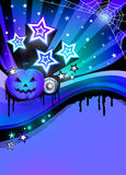 Halloween-de affiche van de discopartij Stock Afbeelding