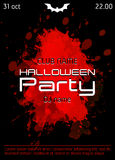 Halloween-de affiche van de discopartij Royalty-vrije Stock Fotografie