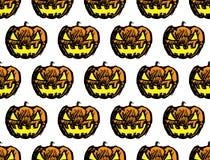Halloween-de het hefboom-o-lantaarn pompoenhoofd en truc of behandelen tekst Royalty-vrije Stock Fotografie