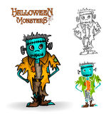 Halloween-de illustratieeps10 dossier van de monster griezelig zombie Stock Foto's