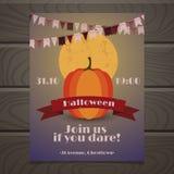 Halloween-de kaart van partijinvintation Stock Foto's