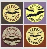 Halloween-de kaartreeks van de vakantiegroet Stock Afbeeldingen