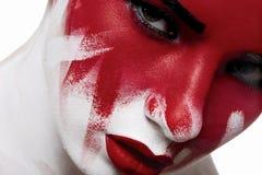 Halloween-de make-up van de manierschoonheid royalty-vrije stock fotografie