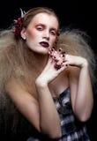 Halloween-de make-up van de Schoonheidsvrouw Royalty-vrije Stock Afbeelding