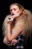 Halloween-de make-up van de Schoonheidsvrouw Royalty-vrije Stock Afbeeldingen