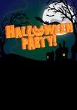 Halloween-de Partij nodigt Affiche uit Stock Afbeelding