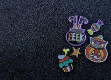 Halloween-de pompoen van het heksensuikergoed cupcake royalty-vrije stock fotografie