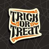 Halloween-de slogantruc of behandelt Stock Foto