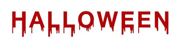 Halloween-de tekst schrijft door bloed, Halloween-is de tekst bloed, Halloween royalty-vrije illustratie
