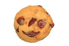 Halloween-de truc of behandelt choc afbreekt muffin Royalty-vrije Stock Afbeelding