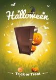 Halloween-de Vector - Truc of behandelt illustratie Royalty-vrije Stock Afbeelding