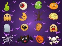 Halloween-de vector van de pictograminzameling Stock Foto