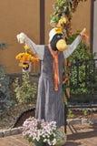 Halloween-de vogelverschrikkers van het strokarakter Royalty-vrije Stock Foto