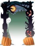 Halloween in de voorsteden Stock Afbeeldingen