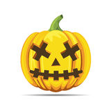 Halloween dead pumpkin. Halloween pumpkin dead orange color isolated vector on white background Royalty Free Stock Images