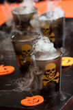 Halloween, Deadly Shot. Closeup of Deadly Shot, vodka and hot pepper - Halloween drinks series royalty free stock photos