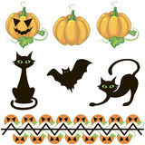 Halloween decor elements Stock Photo