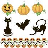 Halloween decor elements. A set of halloween decoration elements Stock Photo