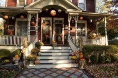 Halloween decorated porch Stock Photos