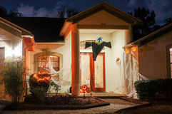 Halloween-decoratie in een huis Royalty-vrije Stock Fotografie