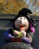 Halloween-Decoratie op Achterband Royalty-vrije Stock Afbeeldingen