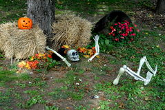 Halloween decoration. At a front yard Stock Photo