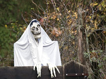 Halloween Decoration. Halloween monster at a gate protecting inhabitants from outsiders Royalty Free Stock Images
