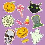 Halloween decoration attributes vector image. Halloween decoration attributes vector image design set for illustration, postcards, posters, stickers, labels and Stock Photography