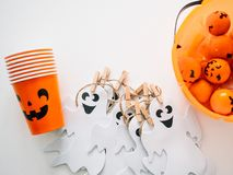 Halloween and decoration concept stock images