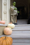 Halloween Decoration in Front of House Stock Photos