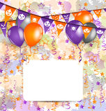 Halloween decoration with greeting card Stock Photo