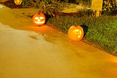 Halloween decoration in a home Royalty Free Stock Images