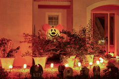 Halloween decoration in a home Stock Image