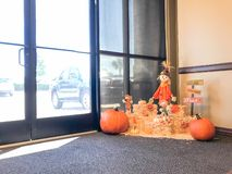 Halloween Decoration Near Office Entrance In Texas, America Royalty Free Stock Photography