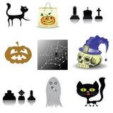 Halloween decoration set Stock Images