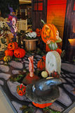 Halloween Decoration in Shopping Center Stock Images