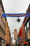 Halloween decoration on the street. In Stockholm, Sweden stock photos