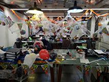 Halloween Decoration. Typical office halloween decoration for kids party ans trick or treat stock image