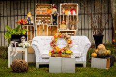 Halloween decoration vintage decor stock photos