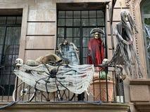 Halloween decorations, Manhattan, NYC, USA. Halloween decorations in Upper West Side, Manhattan, NYC, USA royalty free stock photography