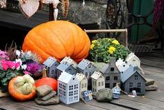 Halloween decorations with pumpkin Stock Image