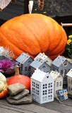 Halloween decorations with pumpkin Royalty Free Stock Photography