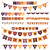Halloween Decorations Set in Flat Style Royalty Free Stock Images