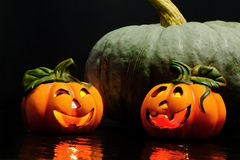 Halloween decorative pumpkins Royalty Free Stock Image