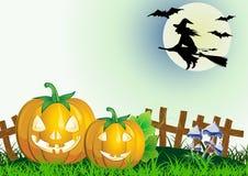 Halloween decorativo celebra Fotografia Stock Libera da Diritti